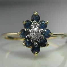 A lovely vintage diamond and sapphire ring. This ring is Marquise in form and is constructed entirely from white and yellow gold. Ring size: O (This ring can be resized if required). Diamond Rings, Diamond Engagement Rings, Gemstone Rings, Engagement Jewelry, Vintage Diamond, Vintage Rings, Vintage Jewelry, Sapphire Jewelry, Gold Jewelry