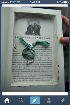 """Harry Potter engagement! I would just DIE if this happened to me! So cute! But in the back of my mind I would be thinking """"this better not have been my book...."""""""