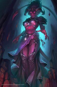 Halloween art that is naughty Dark Fantasy Art, Fantasy Demon, Fantasy Art Women, Fantasy Races, Beautiful Fantasy Art, Fantasy Warrior, Fantasy Girl, Fantasy Artwork, Fantasy Character Design