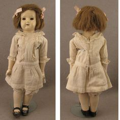 "c.1918 Tip Top Toy Co. 16""  Composition Doll All Original"
