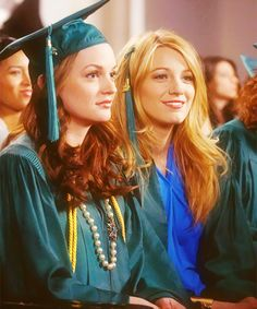 "Blair Waldorf and Serena van der Woodsen graduating from Constance Billard in the episode ""The Goodbye Gossip Girl""......."