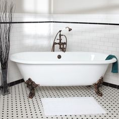 Cecilia Cast Iron Clawfoot Tub - Monarch Imperial Feet