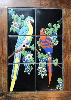 Not sure of the maker. Monterey California, Vintage California, Tile Tables, Parrots, Art Decor, Tiles, Porcelain, Ceramics, Antiques