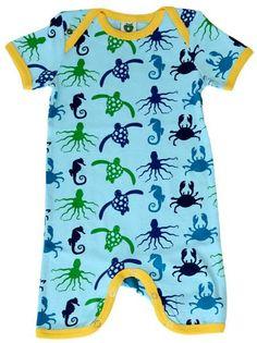 Smafolk Summer suit - Sea animals - Retro Baby Clothes