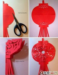 Paper Crafts, Chinese Lanterns for Good Feng Shui and Festive Holiday Decoration