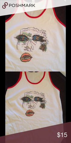 NEW! Glam ringer tank. American apparel ❤️ Original design screened on cotton ringer tank by AA Tops Tank Tops