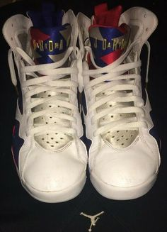 66a3e6bace Details about Nike Air Jordan 7 Retro VII Olympic USA Sz 12 304775-123  Release Year 2016