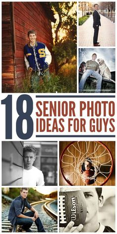 Why should girls get all the fun when it comes to senior pictures? Check out these photo ideas that will show the man your little boy has become.