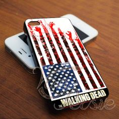 The walking dead flag for iPhone 4/4s/5/5s/5c - Samsung Galaxy s3i9300/s4i9500 - iPod 4/5 Case by VANPERSIE on Etsy