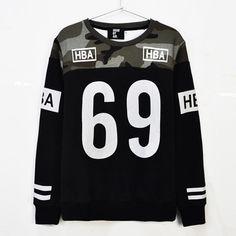 Mens HBA hoodie No.69 hip hop fashion hoodies patchwork camouflage sweatshirt men crewneck brand hood by air moleton masculino e7822902-53ea-421a-a66b-28aa043ae84e Hoodies & Sweatshirts
