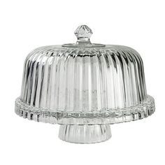 Crystal Clear Alexandria Reversible Cake Plate