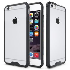 2in1 Shock Proof Air Armor Case For iPhone 6S 6 Plus Clear Hard Back Cover +TPU Crystal Bumper Case For iPhone 6S Plus 6 Plus