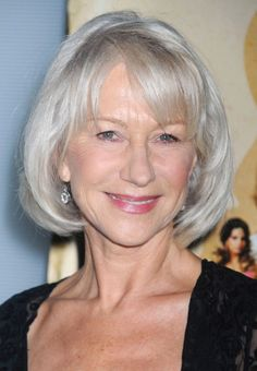 Helen Mirren looks fabulous with gorgeous silver grey hair