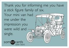 This was me..... until we got the BIG van! Now, I definitely don't need the stick figure family! They can just tell there are lots of us, lol