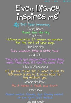 Inspiration from disney