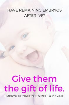 Have you heard of embryo donation? If you have embryos remaining after IVF, you can donate them to a couple struggling with infertility.  Check it out on NRFA.org  National Registry for Adoption // Infertility Inspiration