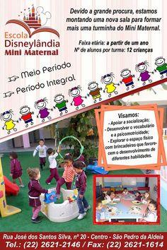 Notícias de São Pedro da Aldeia: SÃO PEDRO DA ALDEIA - Escola Disneylândia abre vag...