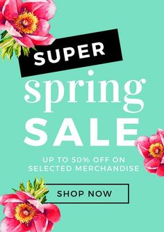 Green With Pink Flowers Spring Poster
