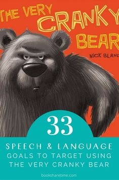 Check out the speech and language goals you can target in speech therapy using The Very Cranky Bear by Nick Bland Speech Language Therapy, Speech Language Pathology, Speech And Language, Music Therapy, Play Therapy, Therapy Ideas, Speech Therapy Activities, Book Activities, Articulation Activities