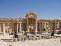 Stage of the amphitheatre, Palmyra, Syria