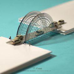 ". 11.4 wed ""Bridge"" . ミリ単位で計算された橋 . #分度器 #定規 #Protractor #Ruler ."