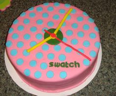 Swatch Watch - 80's party cake