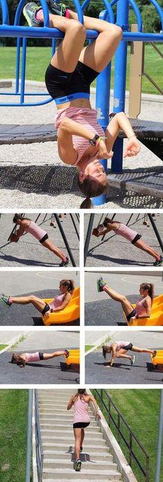| full body playground workout |