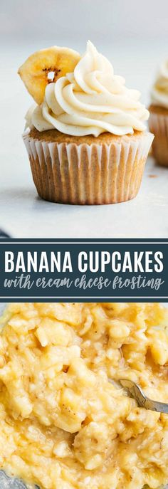 ultimate BEST EVER banana cupcakes! Plus all the tips and tricks to make these perfect every-time! via ultimate BEST EVER banana cupcakes! Plus all the tips and tricks to make these perfect every-time! Healthy Cupcake Recipes, Banana Dessert Recipes, Healthy Cupcakes, Healthy Treats, Easy Desserts, Quick Recipes, Vegan Banana Cupcake Recipe, Best Cupcake Recipe Ever, Vegan Banana Muffins