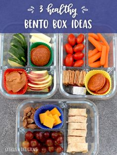 Create your own Bento boxes for lunch (or snack) to keep things fun and interesting at mealtimes! Pack an assortment of your favorite foods and customize your best Bento box. Best Bento Box, Bento Box Lunch, Lunch Boxes, Lunch Recipes, Healthy Recipes, Delicious Recipes, Amazing Recipes, Drink Recipes, Dinner Recipes