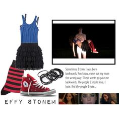 Designer Clothes, Shoes & Bags for Women Effy Stonem Style, Effy Jewelry, Disneybound, Converse Chuck Taylor, Navy Converse, High Top Sneakers, Polyvore, Grunge, Forever 21