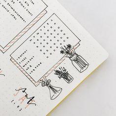 Bullet journal weekly layout, weekly habit tracker, floral doodles. @katstudies