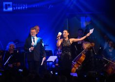 hosts Myleene Klass and Aled Jones helped bring this years theme of Timeless Elegance to life at the Lights switch on. West End, Timeless Elegance, In The Heart, Christmas Lights, London, Concert, Street, Life, Christmas House Lights