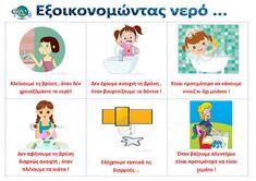 dreamskindergarten Το νηπιαγωγείο που ονειρεύομαι !: Πίνακες αναφοράς για το νερό Education, School, Blog, Earth, Water, Summer, Gripe Water, Summer Time, Schools