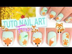Tuto Nail art ♡ Petit renard Fox automnale - YouTube