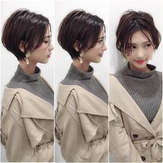 Short Pixie Cuts for 2019 – Everything You Should Know About a Pixie Cut Sho. Short Pixie Cuts for Long Hair With Bangs, Braids For Short Hair, Haircuts For Long Hair, New Haircuts, Asian Short Hair, Girl Short Hair, Medium Hair Cuts, Short Hair Cuts, Pixie Cuts