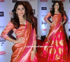Kanika Kapoor In Manish Malhotra At Filmfare Awards 2016-1