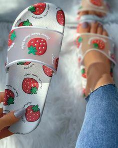 Jordan Shoes Girls, Girls Shoes, Fashion Slippers, Fashion Shoes, Cute Slides, Kawaii Shoes, Cute Nike Shoes, Slippers For Girls, Aesthetic Shoes