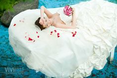 Don't forget to get some shots that show off how beautiful the bride's dress is!