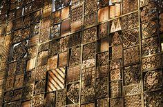 Batik design at stunning Alila Villas Uluwatu in Bali by WOHA Architects Architecture Details, Interior Architecture, Interior Modern, Interior Design, Interior Photo, Alila Villas Uluwatu, Timor Oriental, Modern Crafts, Metal Screen