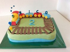 Train cake, railway cake, train cake Source by puhlsilke Birthday Party Themes, Birthday Cake, Thomas The Train, Sweet Cakes, Fondant, Cake Designs, Cake Toppers, Sweets, Desserts