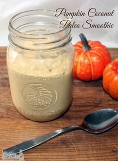 Pumpkin Coconut Paleo Smoothie Recipe #smoovember #sponsored