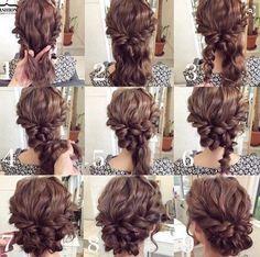 updo diy for medium length hair ile ilgili görsel sonucu