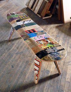 bildergalerie skate home mbel aus skateboards wohnen pinterest skateboard mbel bildergalerie und mbel - Skateboard Bank Beine