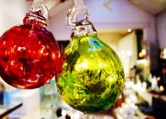 Large hand blown glass baubles from £19 by Shakspeare Glass