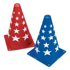 Patriotic Traffic Cones - OrientalTrading.com