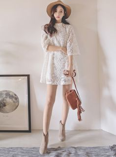 [11Street] Tom & Rabbit Floral Lace Dress                                                                                                                                                     More