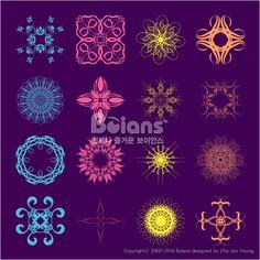 다른 스타일의 기하학 문양 세트. 오리지널 패턴과 문양 시리즈. (BPTD020157) Different styles of dispenser Symbol Sets. Original Pattern and Symbol Series. Copyrightⓒ2000-2014 Boians.com designed by Cho Joo Young.