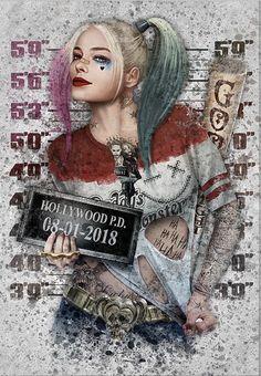 Harley Quinn Et Le Joker, Harley Quinn Tattoo, Harley Quinn Drawing, Art Du Joker, Harley Queen, Totenkopf Tattoos, Dark Disney, Joker Wallpapers, Mug Shots