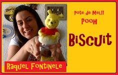 Pote de mel Urso Pooh - Biscuit -Raquel Fontinele