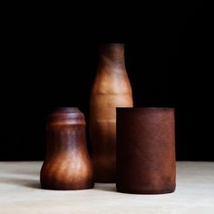 leather vessels by Simon Hassan